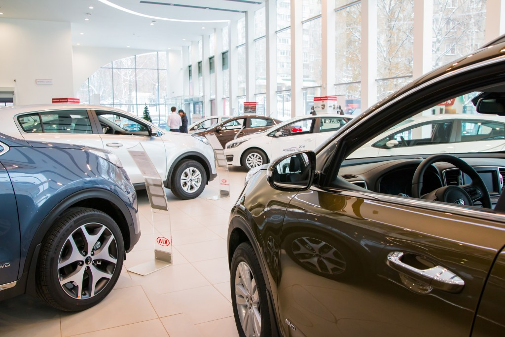 car dealership showroom